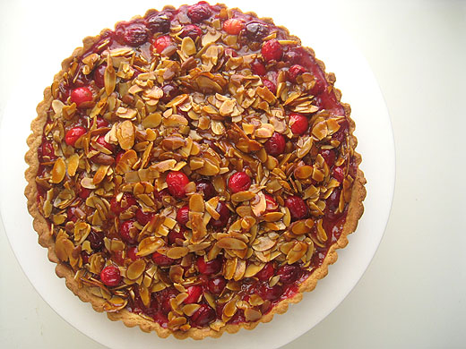 Lottie + Doof » Cranberry, Caramel and Almond Tart