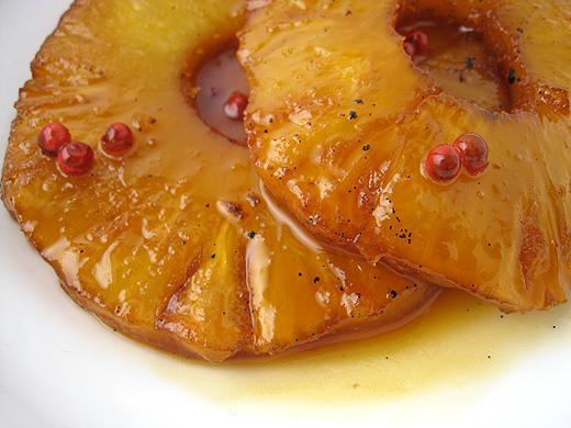 Roasted Pineapple with Pink Peppercorns