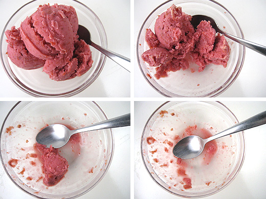 Cherry Frozen Yogurt (recipe adapted from David Lebovitz)