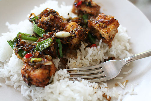 Black Pepper Tofu (adapted from a recipe by Yotam Ottolenghi )
