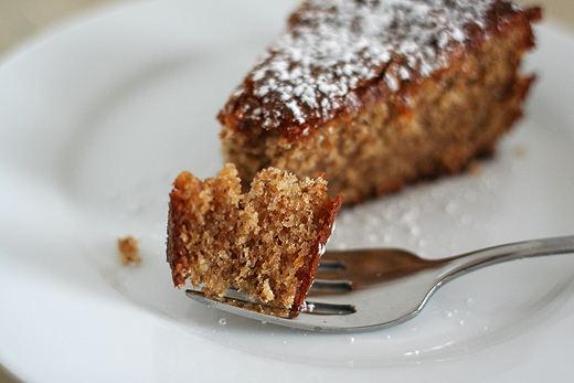 Orange-Walnut Cake (adapted from Bon Appetit Desserts )