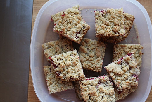 Lottie + Doof » Cranberry Crumb Bars with Mulling Spices