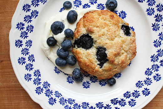 Blueberry Shortcakes with Whipped Cream Cheese
