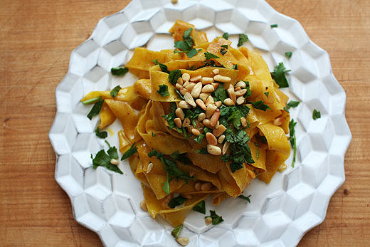 Saffron Pasta with Spiced Butter