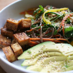 Vegetable and Soba Salad with Mapled Tofu